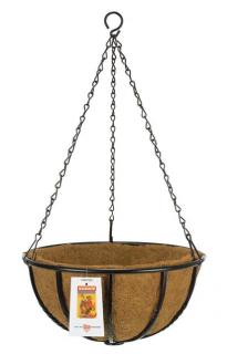 Add some colour to your garden wall be planting some flowers in this heavy duty hanging basket.