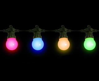 20 Indoor or Outdoor Multi-colour Festoon Party LED Lights