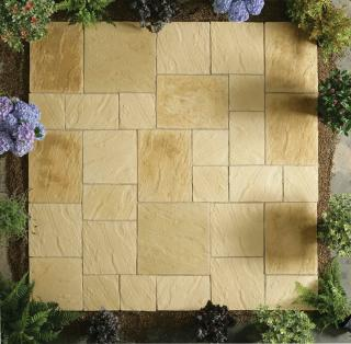 Abbey Paving York Gold 5.76sqm Patio Kit