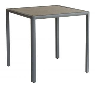 Alexander Rose Fresco Aluminium & HPL Dining Table 76cm in Flint with Pebble HPL Top