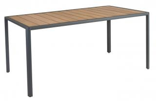Alexander Rose Fresco Aluminium & Roble Dining Table 156cm in Flint