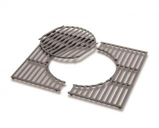 A cast iron cooking grate for the Spirit 2 burner gas grills.