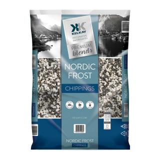 The Kelkay Nordic Frost 10-20mm silver and white blend stones are ideal for alpine and rock gardens.