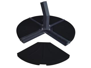 This heavyweight parasol base is for the cross base cantilever parasols & comes in 4 parts.