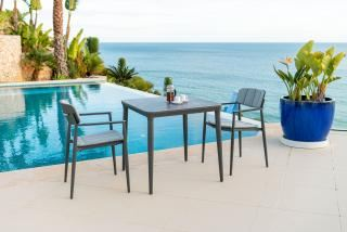 Alexander Rose Rimini 2 Seat Square Dining Set