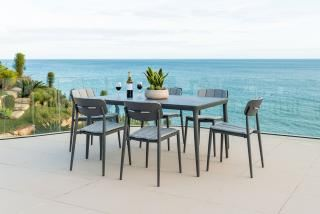 Alexander Rose Rimini 6 Seat Rectangular Dining Set with Side Chairs