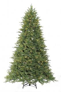 7ft Pre-lit Asheville Fir Life Like Artificial Christmas Tree