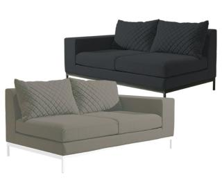 Westminster Arctic 2 Seater Sofa Right End in Charcoal (upper image)