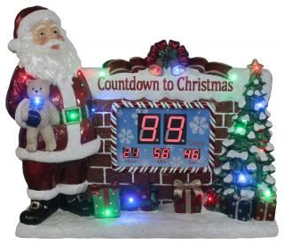 Outdoor 85cm LED Santa Countdown to Christmas Clock
