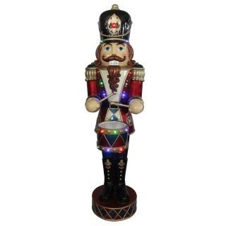 Outdoor 152cm LED Musical & Mechanical Drummer Boy Nutcracker