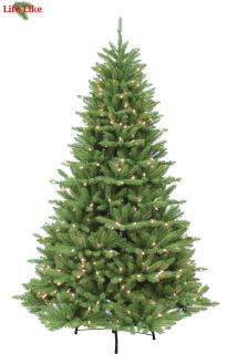 Our 7ft Pre-lit Blufton Fir is a full width PVC tree with 500 LED lights.