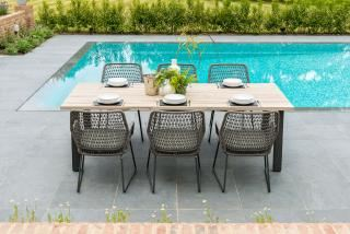 4 Seasons Outdoor Babilonia 6 Seat Rectangular Derby Dining Set