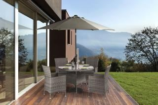 Supremo Barcelona Round 4 Seat Dining Set