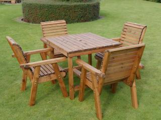 Redwood Windermere Four Seater Bistro Set