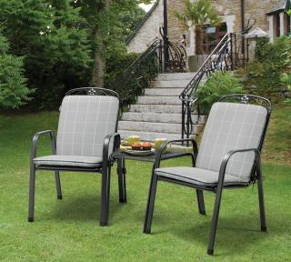 The Kettler Siena Companion Seat in Iron Grey comes complete with cushions in Silver Check.