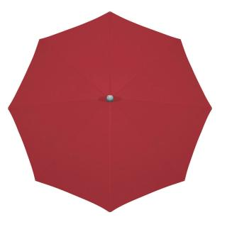 Glatz 330cm Round Alu Twist Parasol - Chilli Red