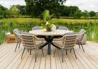 4 Seasons Outdoor Cottage 6 Seat Louvre Dining Set