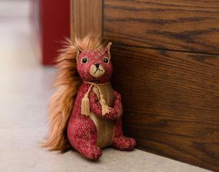 Dora Designs Ruby Red Squirrel Doorstop