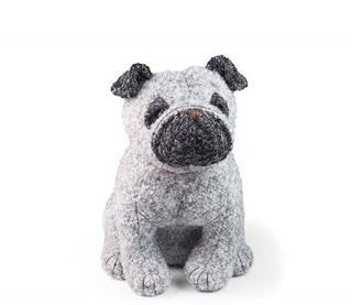 Dora Designs Puggles the Pug Doorstop
