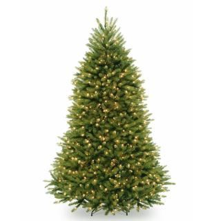 10ft Pre-lit Dunhill Fir Artificial Christmas Tree