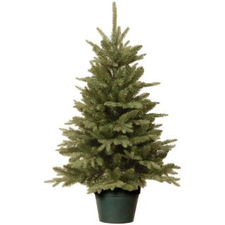 This Feel-Real PE/PVC mix artificial Christmas tree comes ready potted for a quick & easy display.