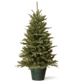 Pre Lit Outdoor Christmas Trees Battery Operated.4ft Pre Lit Battery Operated Pine Cone Burlap Artificial