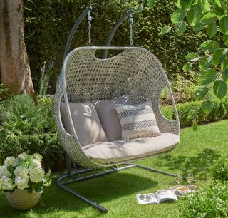 This stunning Goldcoast Double Cocoon in grey resin weave is a perfect addition to the garden allowing you to relax in comfort. Comes with cushions & a FREE cover.