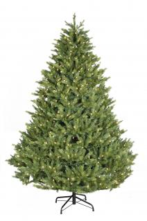 7ft Pre-lit Grand Fir Life Like Artificial Christmas Tree