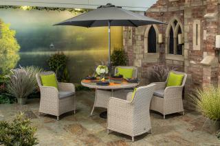 Supremo Genoa 120cm Round Dining Set for Four