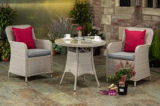 Supremo Genoa 80cm Round Bistro Set for Two