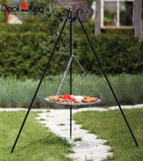 Cook King Steel Grate Tripod Grill with Stainless Steel Grate