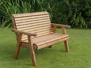 The Dales Two Seater Bench is a lovely seat that will make a fantastic addition to gardens, patio and recreational areas.