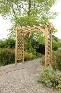 The charming Horizon Large Arch is perfect for climbing plants.