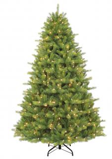 7ft Pre-lit Kensington Fir Life Like Artificial Christmas Tree