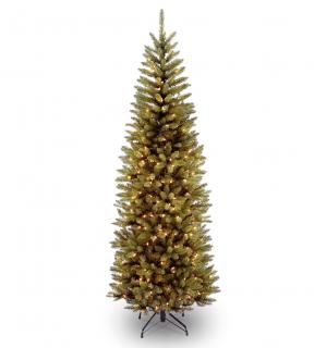 7ft Pre-lit Kingswood Fir Pencil Artificial Christmas Tree