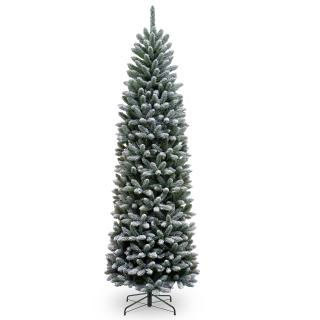 6.5ft Snowy Kingswood Fir Pencil Artificial Christmas Tree