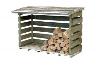 The Forest Wood Store helps to store wood and dry out logs.
