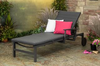 LIFE Outdoor Living Anabel Sunlounger Carbon