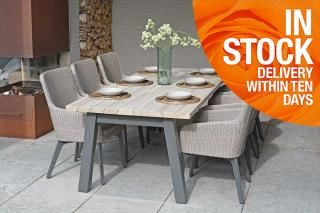 4 Seasons Outdoor Luxor 6 Seat Rectangular Derby Dining Set