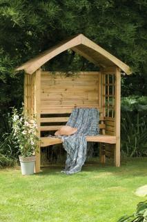The Forest Cadiz Arbour has a compact arbour seat.