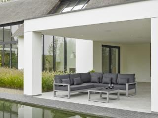 LIFE Outdoor Living Mallorca Corner Set - Matt Grey
