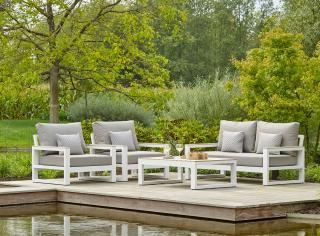 LIFE Outdoor Living Mallorca Lounge Set - White