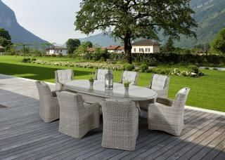 Supremo Massimo 270 x 120cm Oval 8 Seat Set