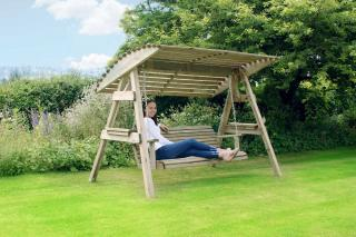 The stunning three seater Miami Swing Seat is a must for every garden.