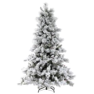 6ft Nordic Pine Glittery Flocked Artificial Christmas Tree