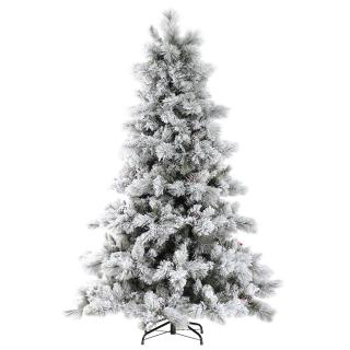 7ft Nordic Pine Glittery Flocked Artificial Christmas Tree