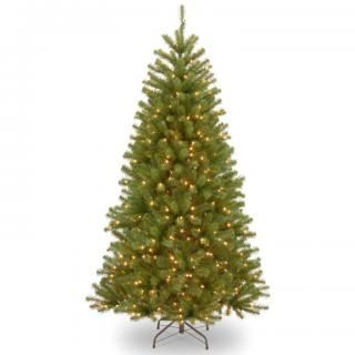 9ft Pre-lit North Valley Spruce Artificial Christmas Tree