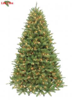 The Pre-lit Ontario Fir is a PE/PVC mix tree with moulded branches for a realistic look. FREE Gift included when you buy online.