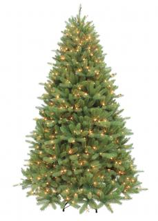 7ft Pre-lit Ontario Fir Life Like Artificial Christmas Tree