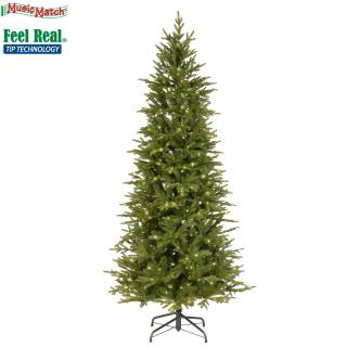 This slim pre-lit PE/PVC mix tree is ideal if you are short of space & will light up any corner. FREE Gift included when you buy online.